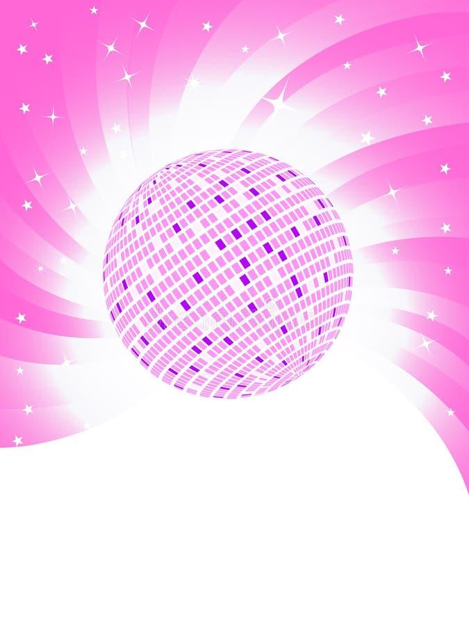 Vector pink background. Clip-art stock illustration