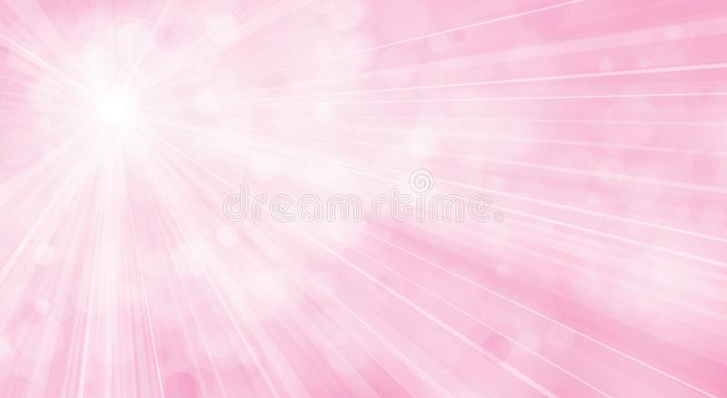 Vector pink background. Vector pink background with rays and lights stock illustration