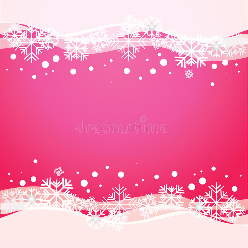 Vector pink background with snowflakes. Illustration vector illustration
