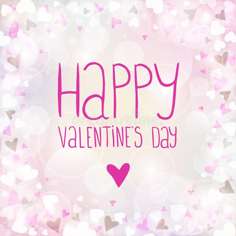 Vector pink background for Valentines day. You can use for greeting cards, posters and design projects royalty free illustration