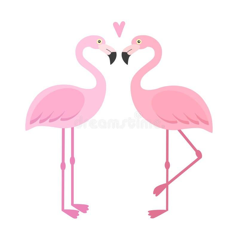 vector pink flamingos illustration stock illustration rh dreamstime com cartoon flamingo wallpaper cartoon flamingo drawings