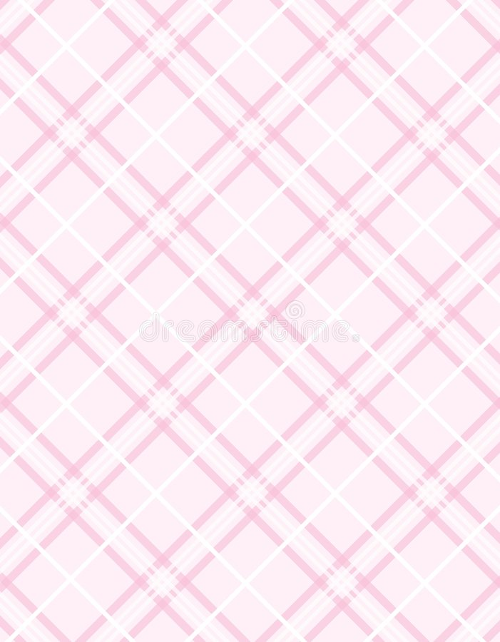 Vector Pink Plaid Background Stock Photography