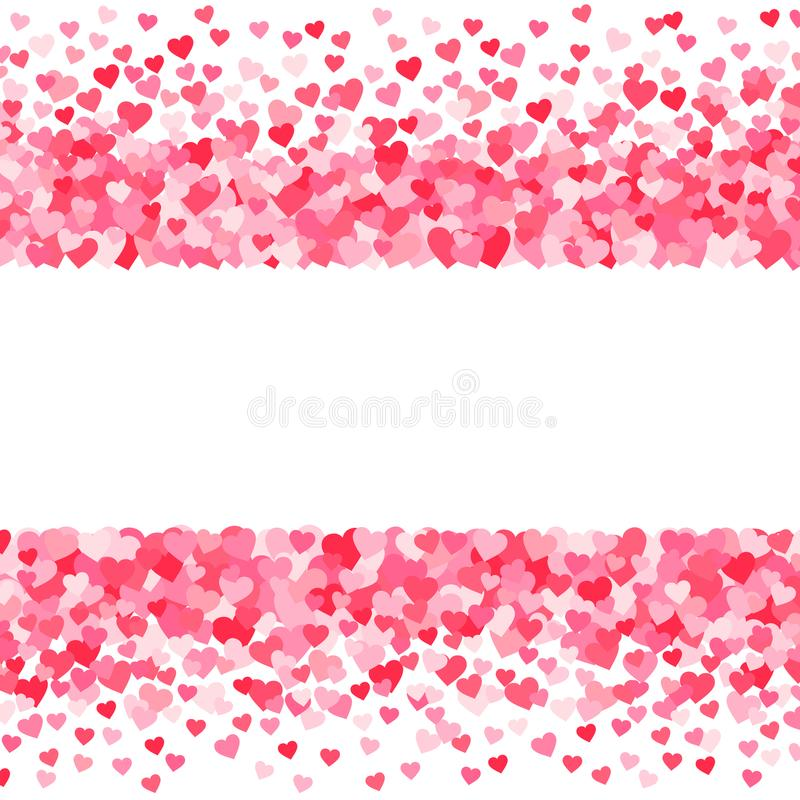 Vector pink & red Valentines Days hearts background vector illustration