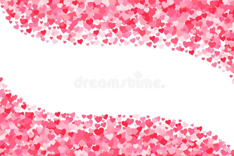 Vector pink & red Valentines Days hearts background royalty free illustration