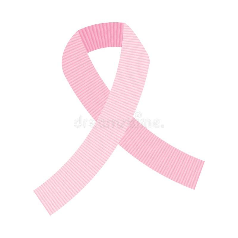 Vector pink ribbon vector illustration