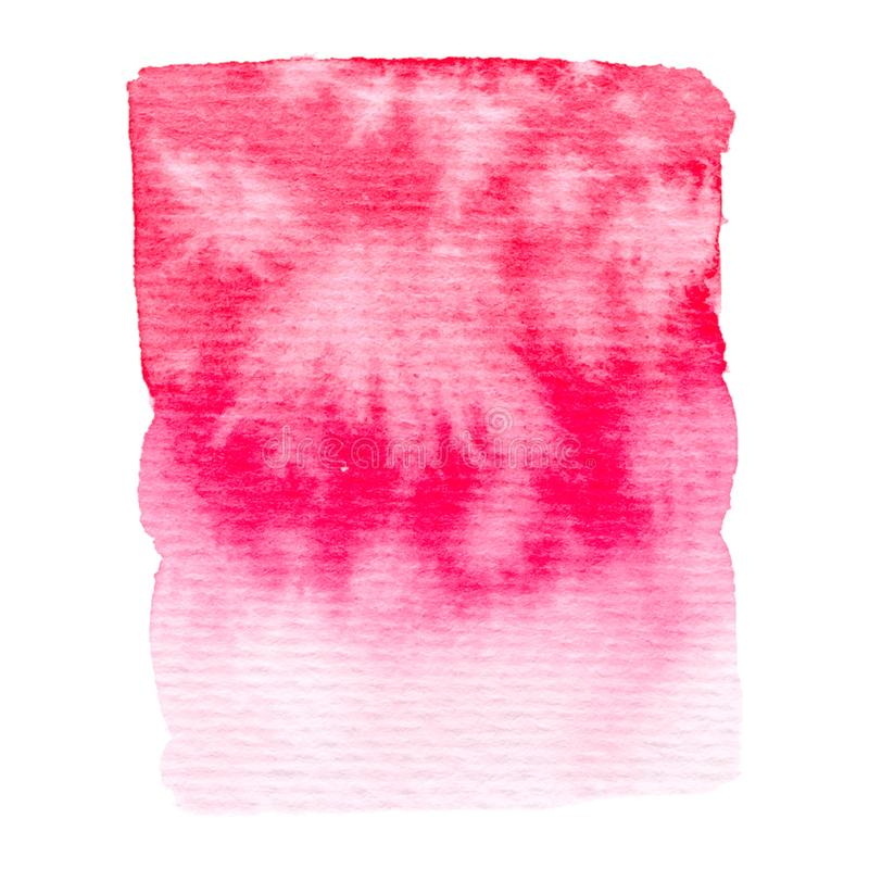 Vector pink watercolor texture isolated on white - paint banner for Your design. Vector pink watercolor texture isolated on white - paint banner stock illustration
