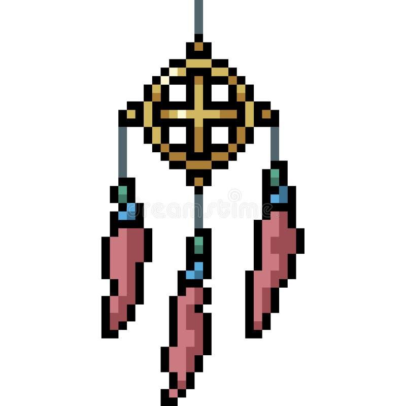 Vector pixel art charme talisman illustrazione vettoriale