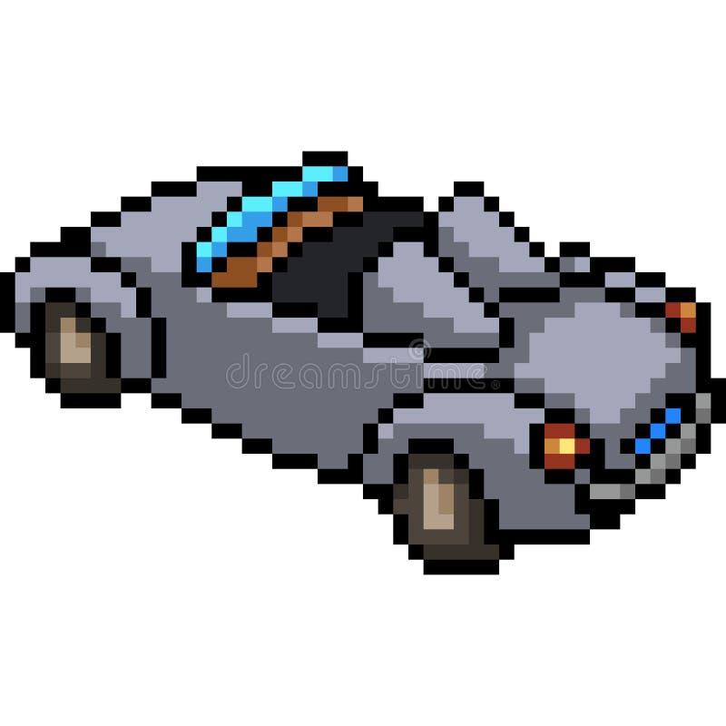Vector pixel art convertible car vector illustration