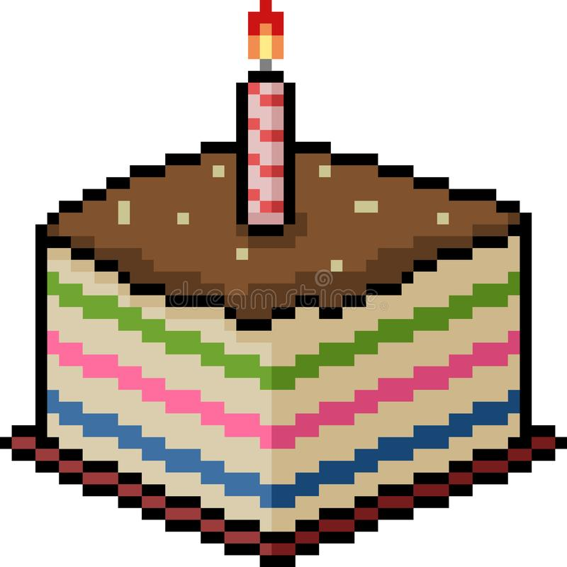 Pixel Cake Stock Illustrations 929 Pixel Cake Stock