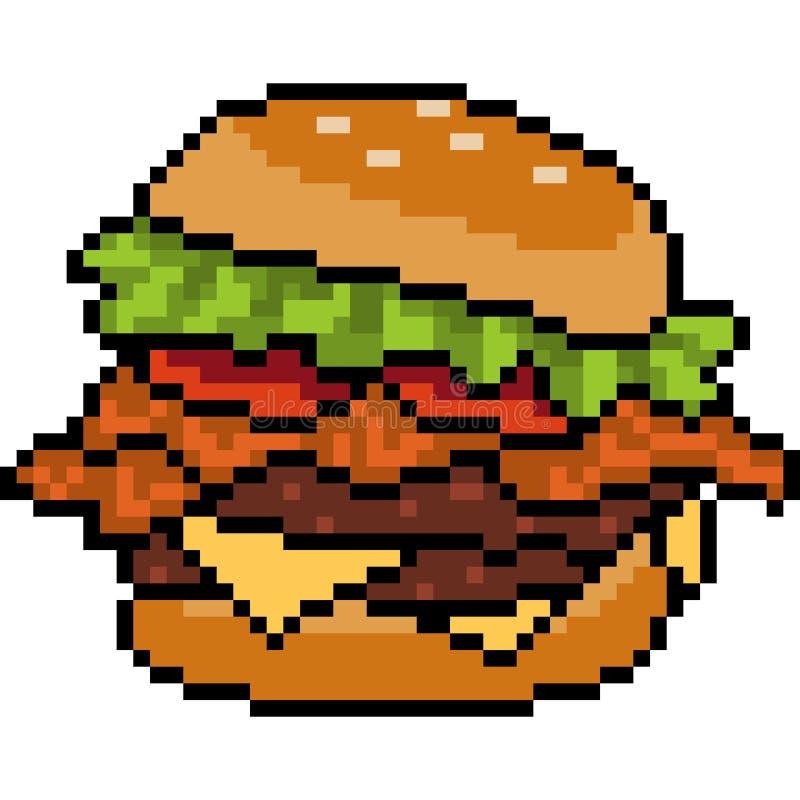 Dessin Pixel Hamburger