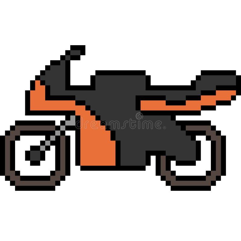 Vector Pixel Art Motorcycle Stock Vector - Illustration of bike, cartoon: 102309115