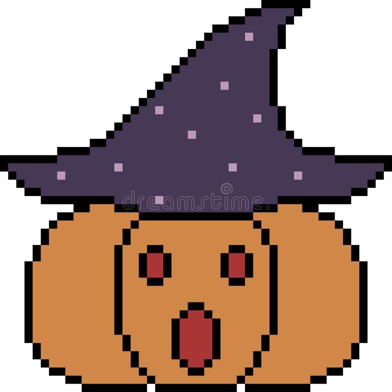 Vector Pixel Art Pumpkin Halloween Stock Vector - Illustration ...