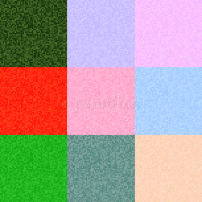 Vector pixel backgrounds set of different colors. This is file of EPS10 format stock photos