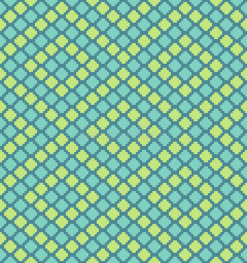 Vector pixel polygons seamless pattern vector illustration