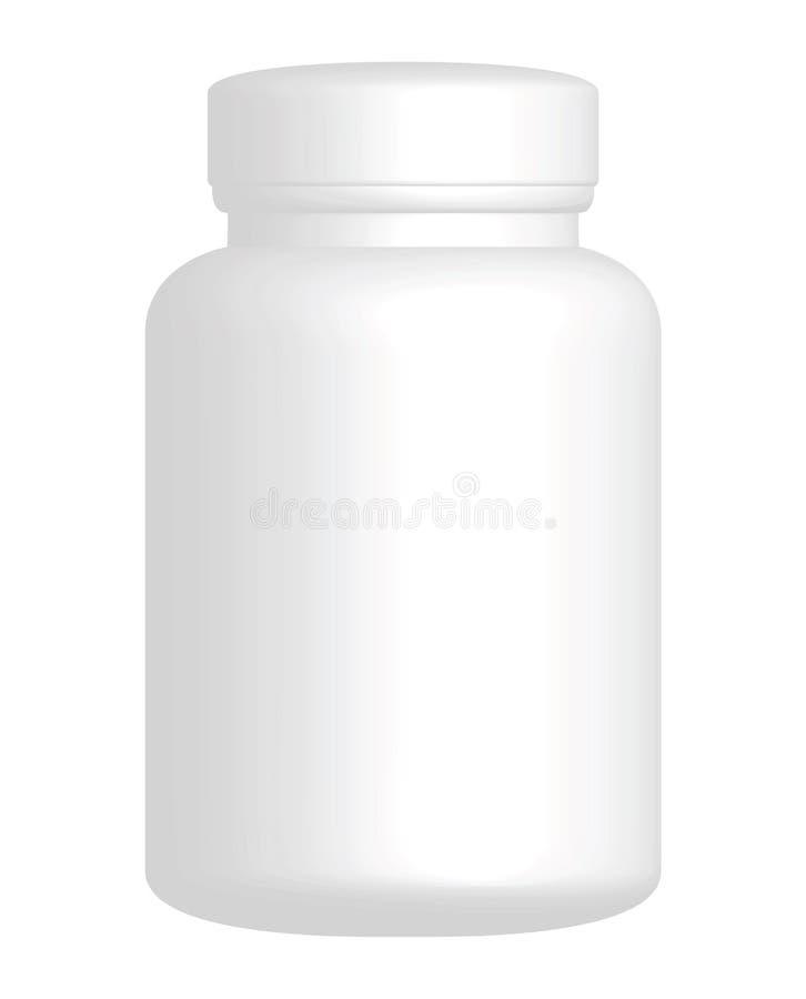Vector Plain White Plastic Bottle vector illustration