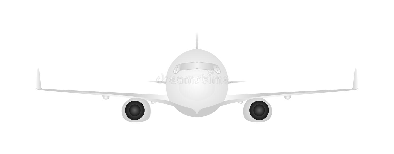 Vector plane for transportation of passengers on a white background. Flat illustration EPS10 royalty free illustration