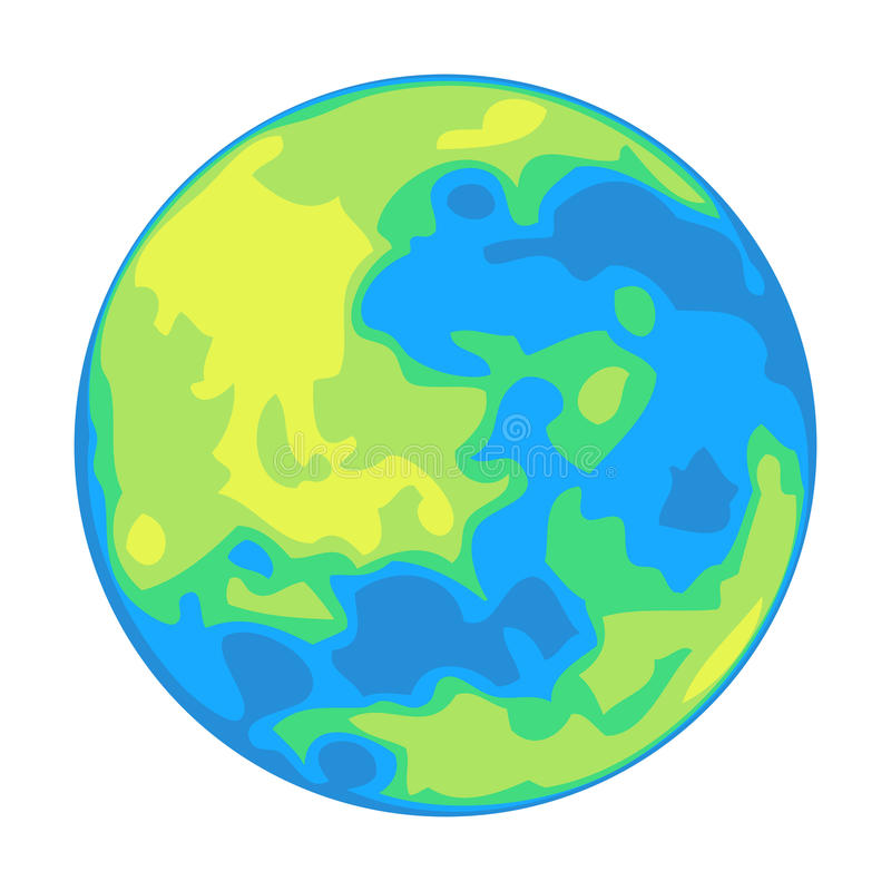 Vector planet isolated on white. EPS8 . Each color is on its own separate layer for easy manipulation stock illustration