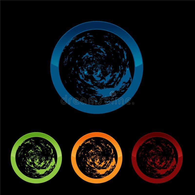 Vector Planet logo. Satellite logo. Cosmos logo. Planet best logo. Planet concept logo. Planet web logo. Planet icon. Planet app icon. Science logo. Planet royalty free illustration