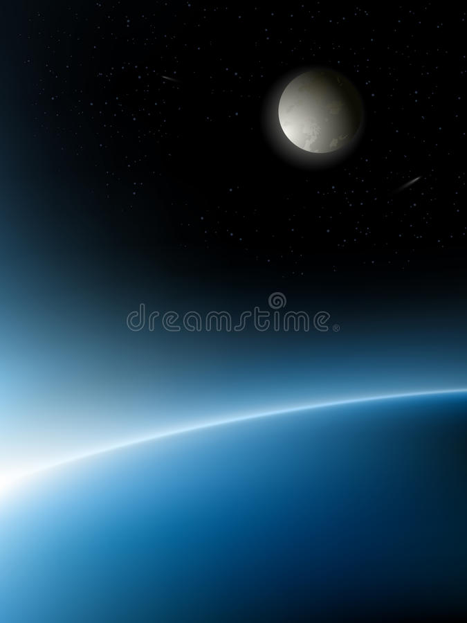 Vector planets. Vector space illustration. EPS 8.0 version available royalty free illustration