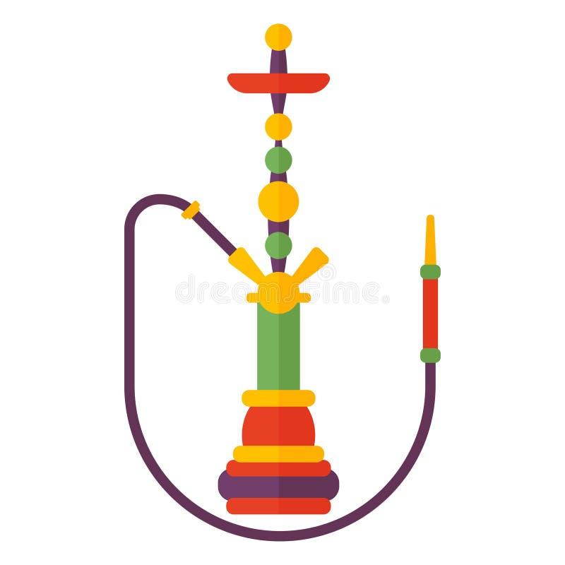 Vector plano de la cachimba moderna colorida del humo libre illustration