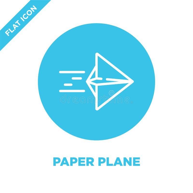 Vector plano de papel del icono Línea fina ejemplo plano del vector del icono del esquema del papel símbolo plano de papel para e stock de ilustración