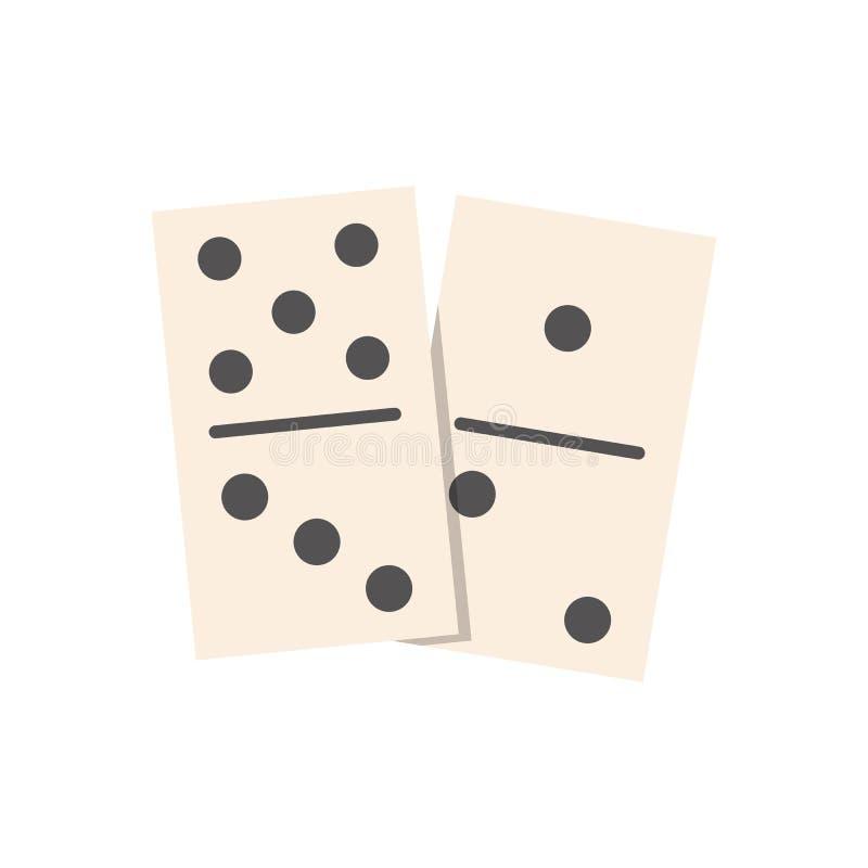 Vector plano del ejemplo de los dominós aislado libre illustration