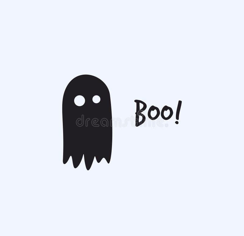 Vector plano del ejemplo del fantasma de Halloween ilustración del vector