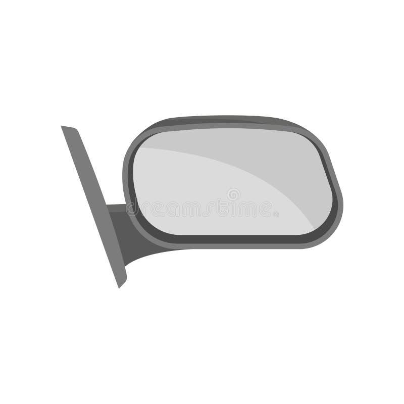 Vector plano del espejo exterior de la vista posterior Pieza del automóvil Tema del coche Elemento para el cartel del taller mecá libre illustration