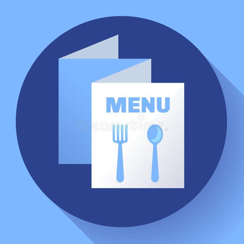 Vector plano del estilo del menú de la plantilla triple del icono ilustración del vector