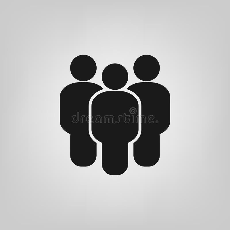 Vector plano del icono del estilo de la gente Símbolo del trabajo del equipo El grupo de seres humanos firma para su diseño del s ilustración del vector