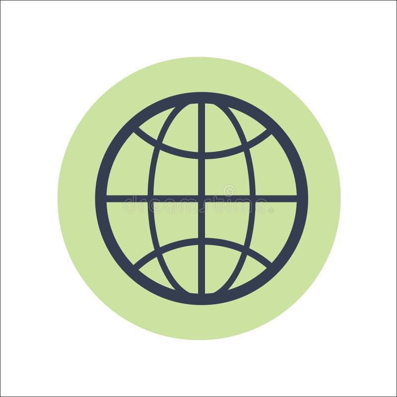 Vector plano del icono del web ilustración del vector