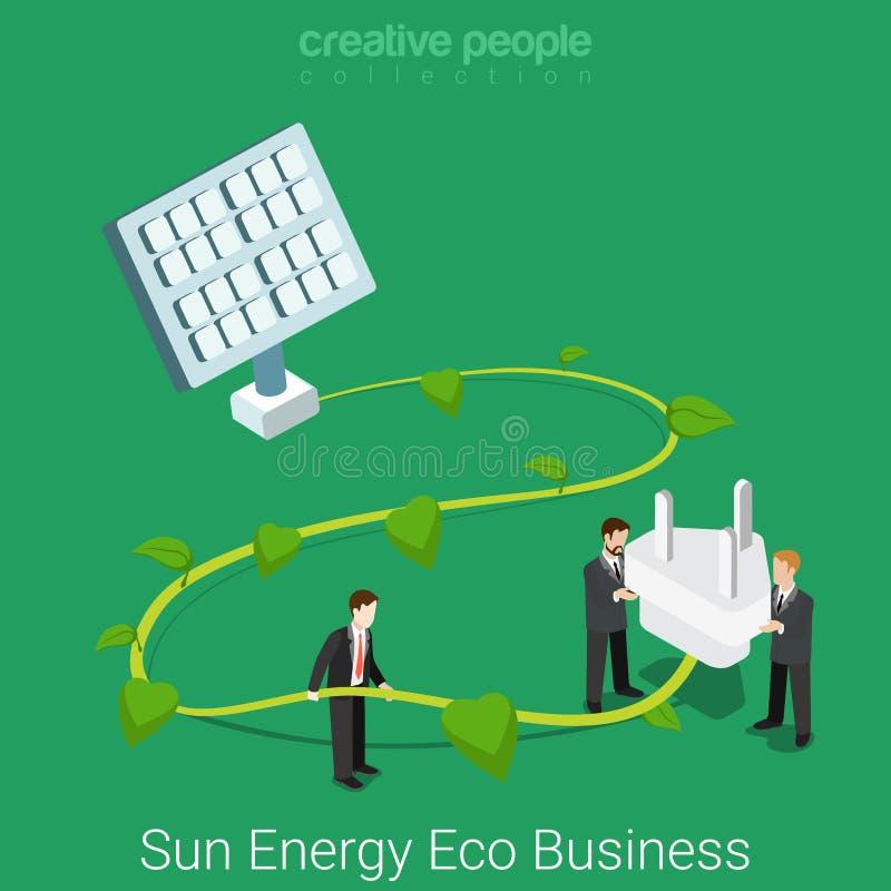Vector plano del negocio de la responsabilidad social corporativa isométrico ilustración del vector