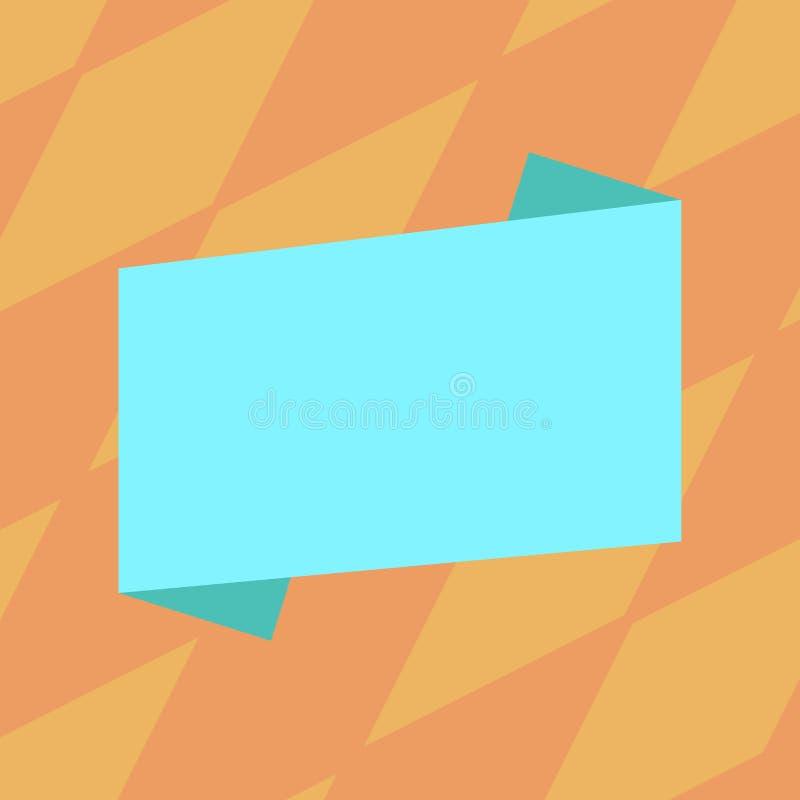 Vector plano doblado color moderno vacío del estilo de la tira de la bandera del espacio en blanco del fondo del extracto del esp libre illustration