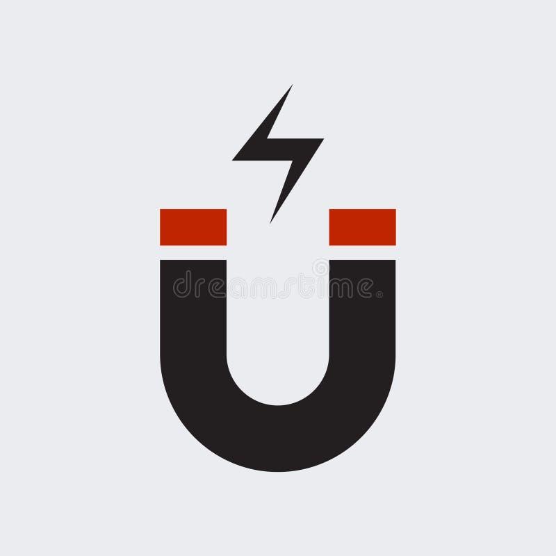 Vector plano EPS10 del icono del imán stock de ilustración