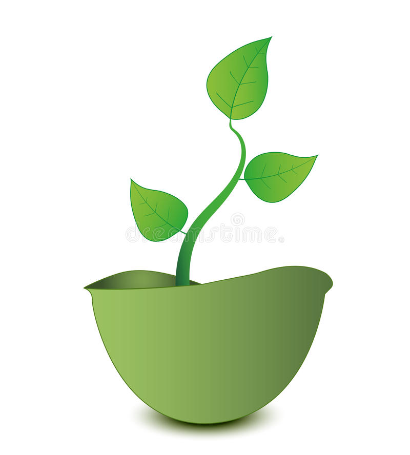 Free Vector Plant Grows From A Military Helmet Stock Photos - 14893703