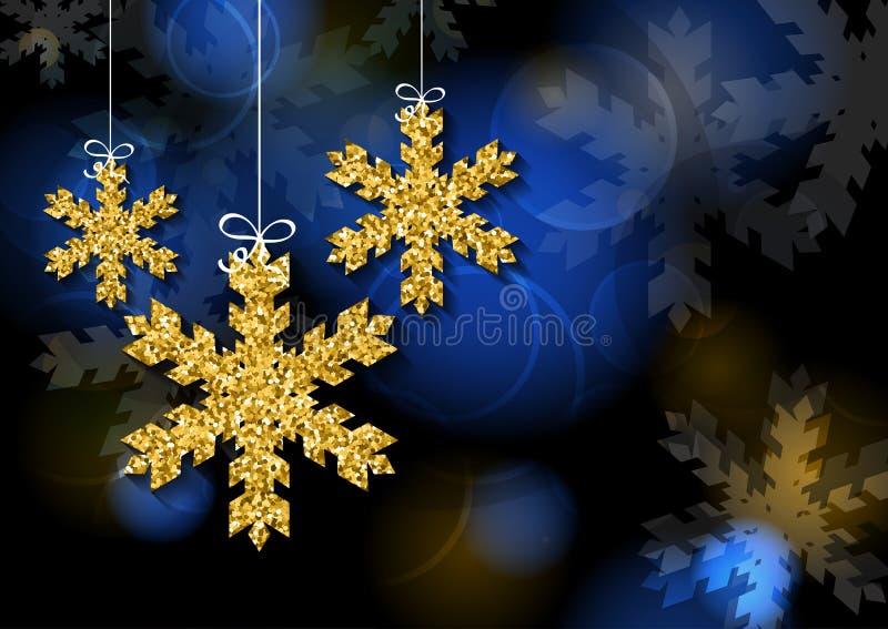 Vector plantilla de la tarjeta de felicitación de la Navidad o del Año Nuevo stock de ilustración
