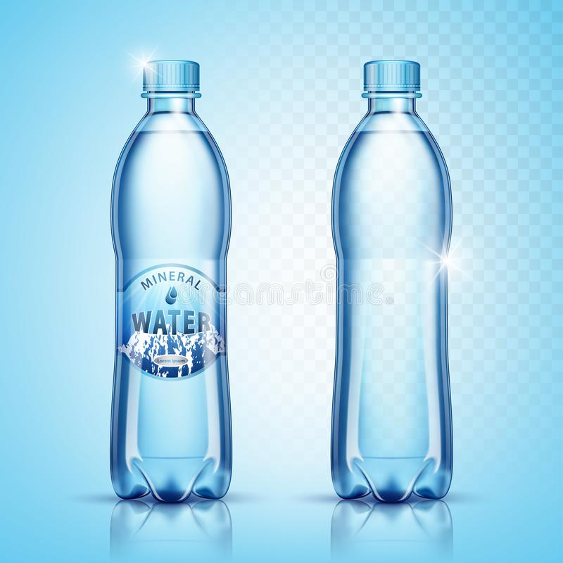 Free Vector Plastic Bottles With Water Stock Photography - 130854972