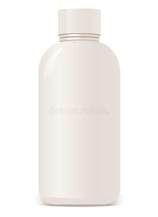 Vector plastic kosmetische containers. stock illustratie
