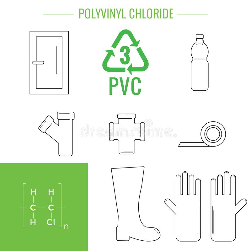 Vector plastic rekupereerbare punten stock illustratie