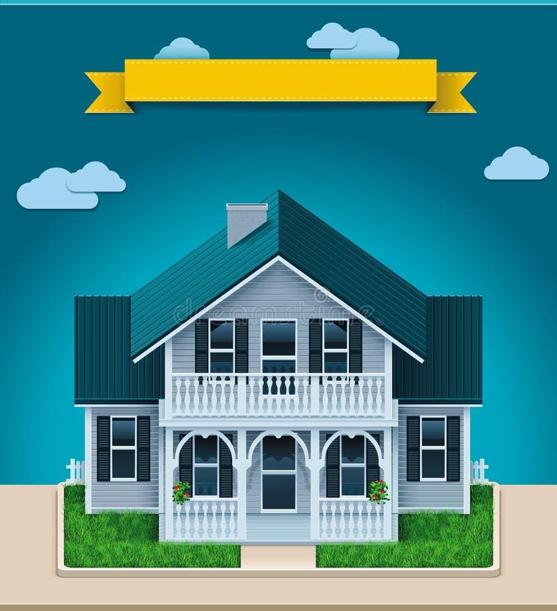 Vector plattelandshuisjeXXL pictogram royalty-vrije illustratie
