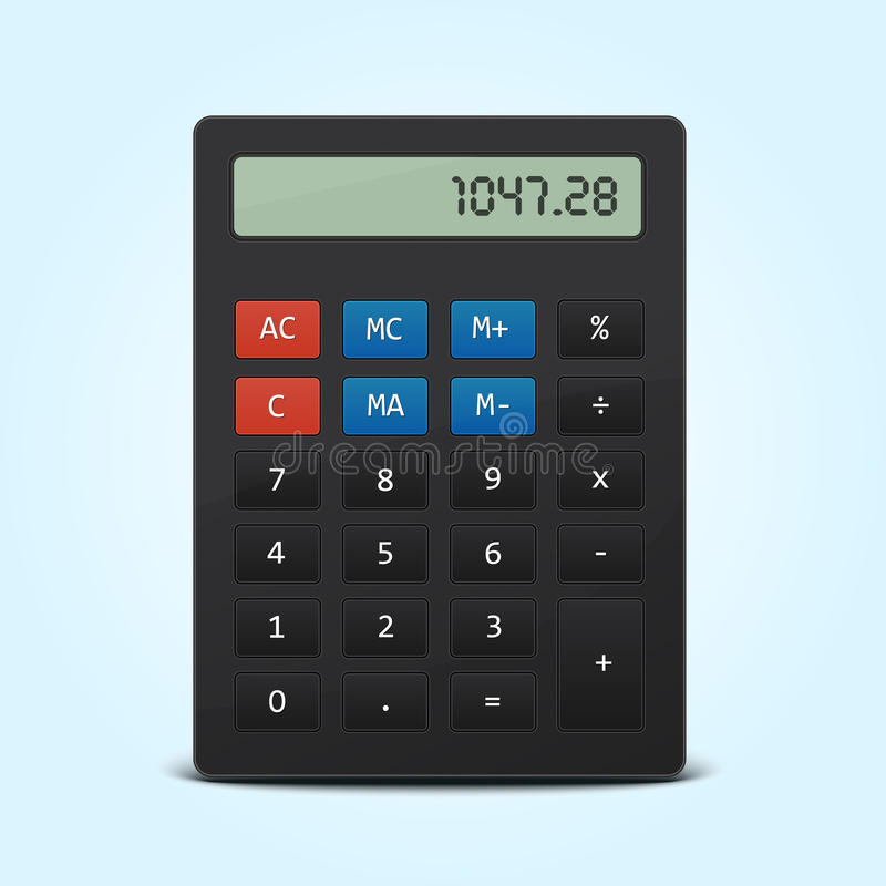 Download Vector Pocket Calculator Isolated On Blue Stock Vector - Illustration of addition, isolated: 24018767
