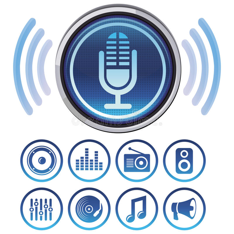 Download Vector podcast icons stock vector. Illustration of discussion - 30494083