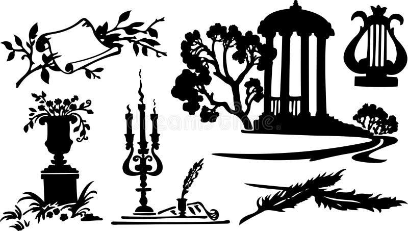 Vector poetry symbols royalty free illustration