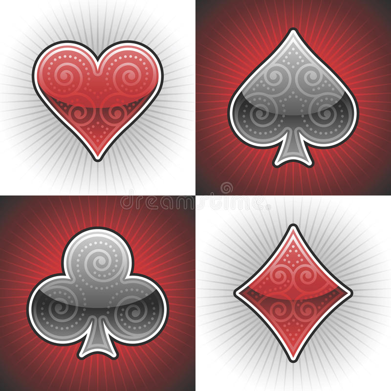 Vector Poker Cards. EPS 10 file available vector illustration