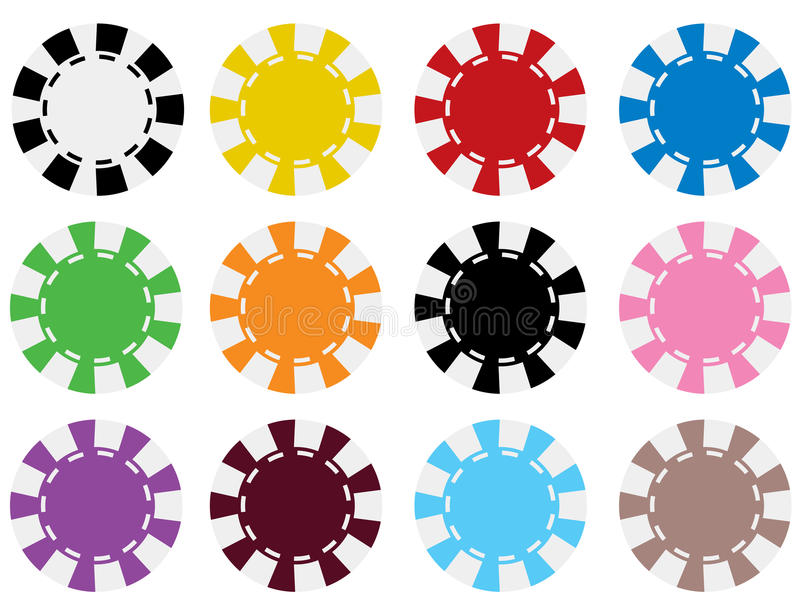 Download Vector Poker Chips In 12 Colors Stock Vector - Image: 10584880