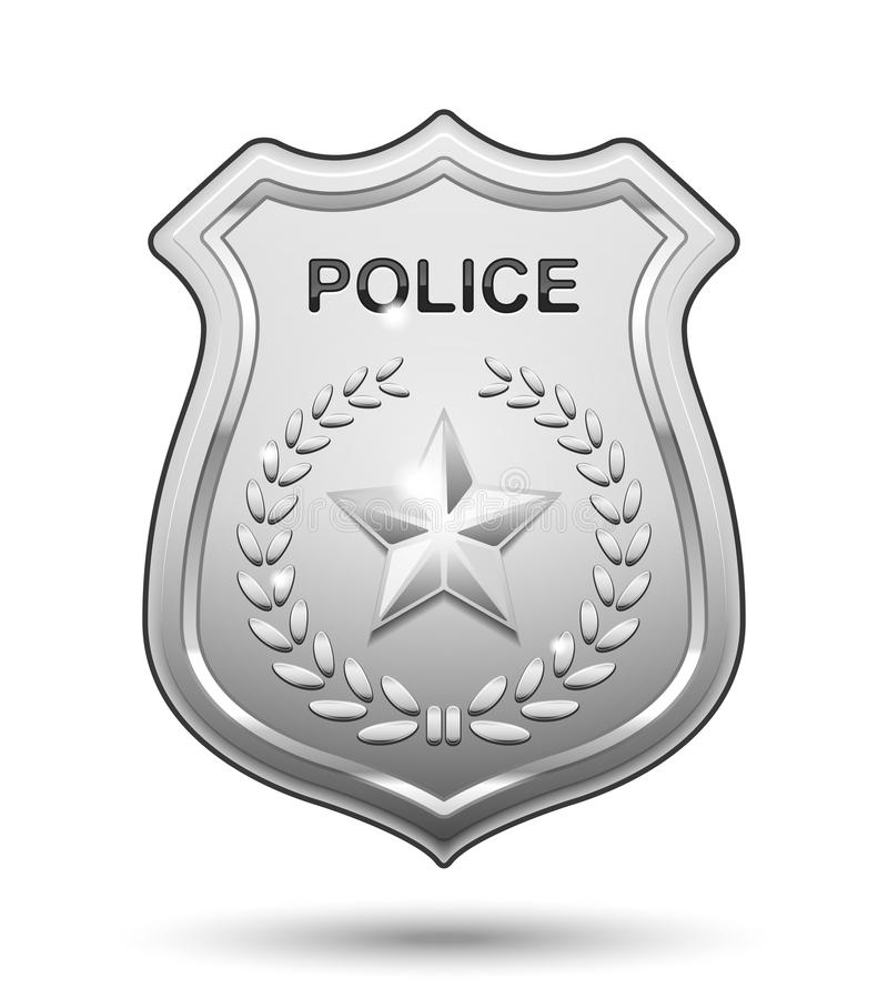 vector police badge stock vector illustration of iron 29725197 rh dreamstime com cartoon police badge picture cartoon images of police badges