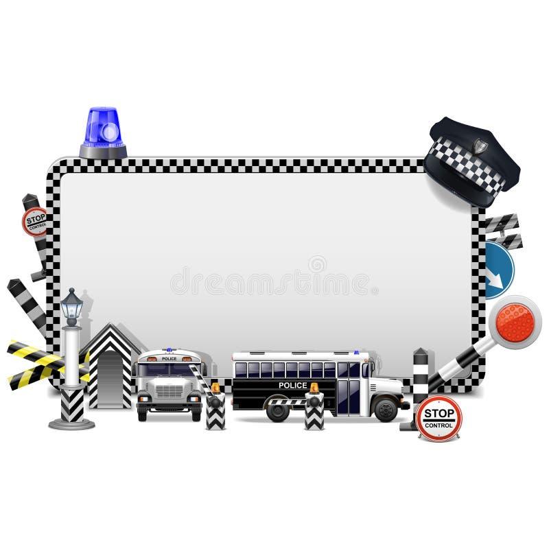 Vector Police Frame vector illustration
