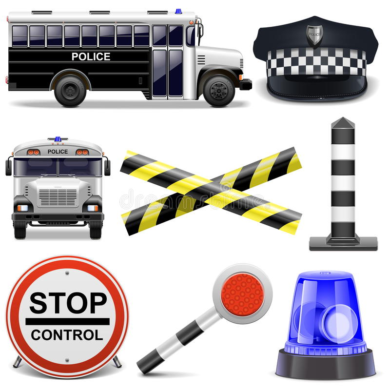 Vector Police Icons vector illustration