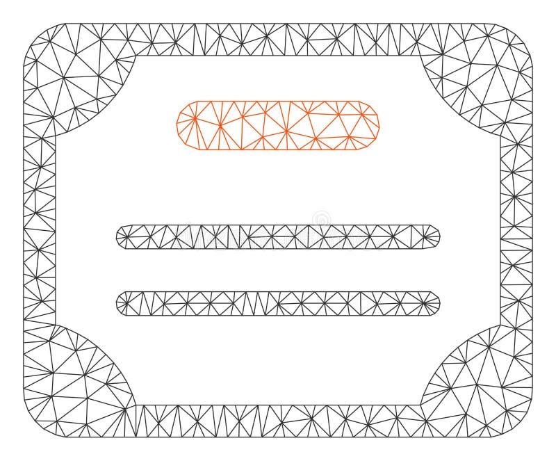 Vector poligonal Mesh Illustration del marco del certificado libre illustration