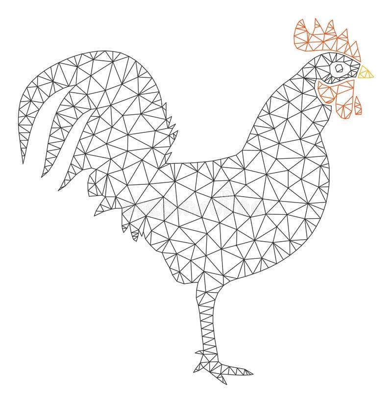 Vector poligonal Mesh Illustration del marco del gallo libre illustration